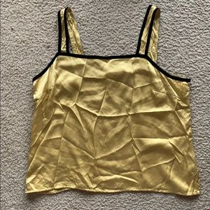 Silk Golden top with black velvet straps